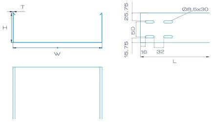 Неперфорированный лоток Флексел 100 мм