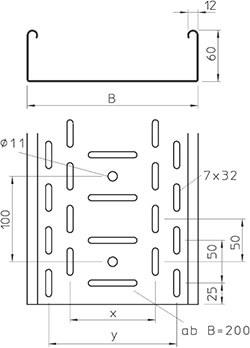 Электрический перфорированный лоток OBO Bettermann