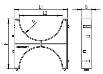 Кластер для двустенной трубы ДКС