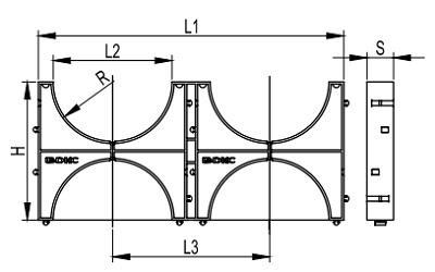 Кластер для двостінної труби ДКС, подвійний