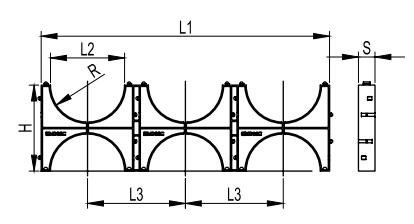 Cluster for double-wall tube