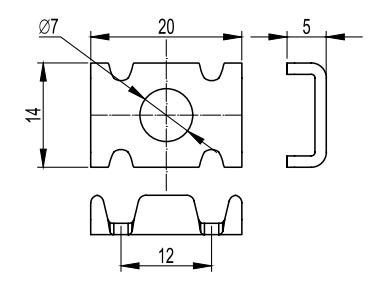 Шайба со спец. головкой для соединения проволочного лотка