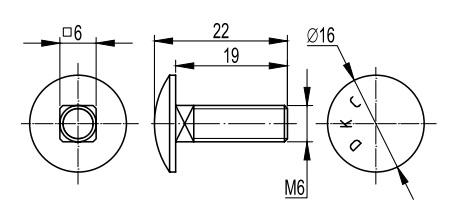 Винт для монтажа проволочного лотка М6х20