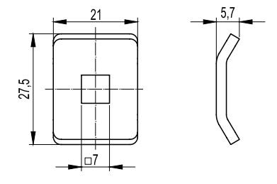 Шайба для соединения проволочного лотка