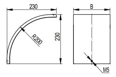 Крышка на вертикальный внешний угол 90