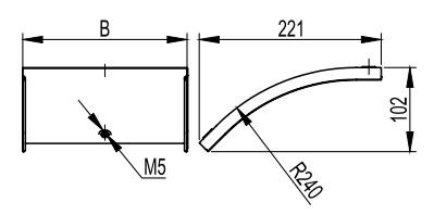 Крышка на вертикальный внешний угол 45