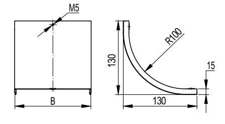 Крышка на вертикальный внутренний угол 90