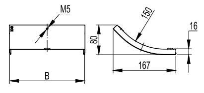 Крышка на вертикальный внутренний угол 45