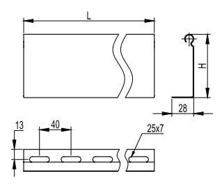 Перегородка для металлических кабельных лотков