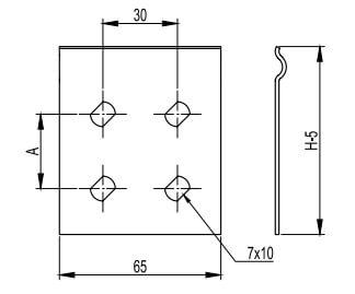 Пластина соединительная для металлических кабельных лотков