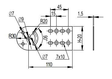 Крепеж шарнирный для металлических кабельных лотков