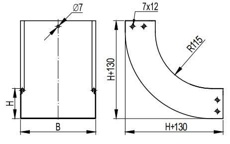 Угол вертикальный, внутренний 90 для металлических лотков