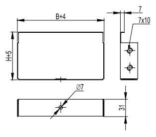 Торцевая заглушка для металлических кабельных лотков