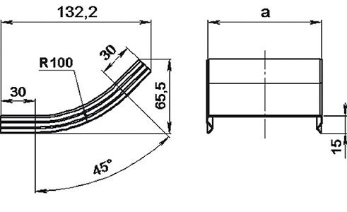 Крышка подъема 45° СКаТ