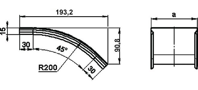 Крышка на спуск 45° СКаТ