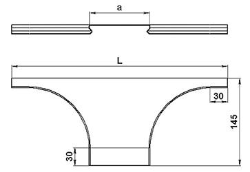 Крышка ответвителя горизонтального SCaT