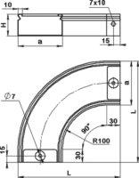 Поворот 90° горизонтальный SCaT H 50 мм
